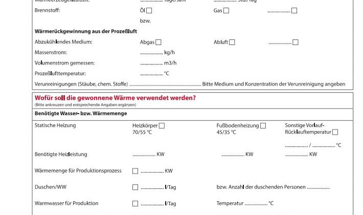Datablad tysk